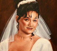 Bridal portrait of Kate by Dana Roseman
