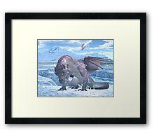 Ice Dragon Framed Print
