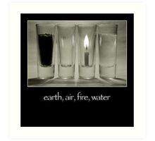earth, air, fire, water Art Print