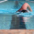 Swimmer Warming Up - Low Angle Shot by Buckwhite