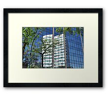 Reflections in Windows Framed Print