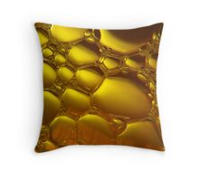 Liquid Gold Throw Pillow