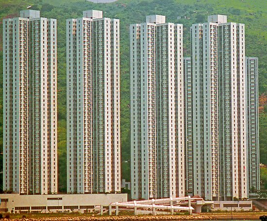 High Density High Rise, Hong Kong. by Peter Stephenson