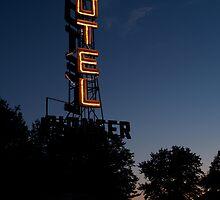 Pioneer Motel Neon by Sally P  Moore