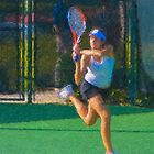 Stylized photo of woman tennis player by NaturaLight