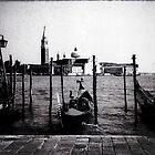 Gondolas in Venice by Elana Bailey
