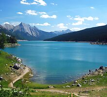 Medicine Lake - Jasper  by Barbara Burkhardt
