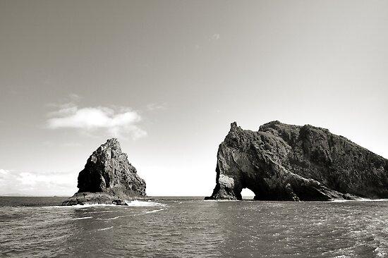 """Hole in the Rock"" - Bay of Islands, NZ by David Haviland"