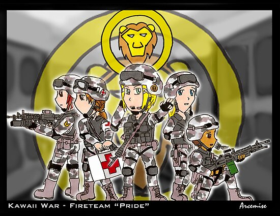 Kawaii War - Fireteam Pride by Arcemise