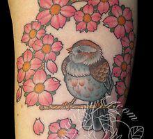 Fat sparrow by BadTaste