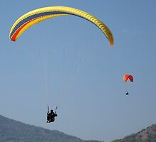 Turkish Paragliders by Alastair