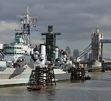 HMS Belfast by Andrew Cryer