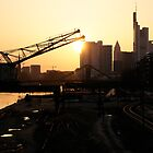 Frankfurt at dawn by Francesco Carucci