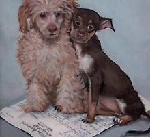Dogs sitting on vet bill by AndreaBelanger