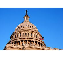 U. S. Capitol Dome and Statue of Freedom Photographic Print