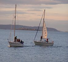Sailing with Dalkey Island in backround by Aoife McNulty