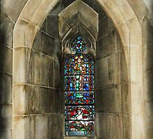 Inside The National Cathedral by Anji Johnston