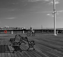Early Morning on the Pier by Wendy Mogul