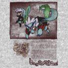 Toon Deity Wolf Link by mixmadmen