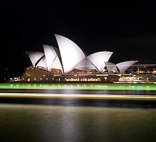 """Sydney Opera House Light Trails"" by Darren Gray"