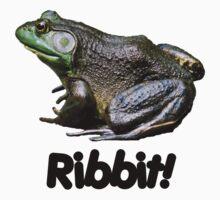 Big Old Bullfrog Ribbit Funny T Shirt by SmilinEyes