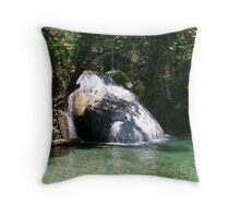 Huatulco Paradise Hidden Waterfall  Throw Pillow