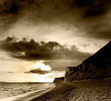 Jurassic Black and White - The Jurassic Coast World Heritage Site Series. by LeeMartinImages