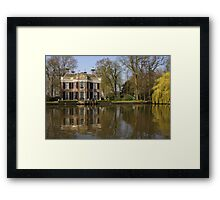A Stately Home on River the Vecht Framed Print