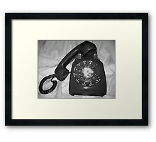 Who's Calling? Framed Print