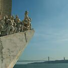 Vasco da Gama in Lisbon harbour. by Martina Fagan