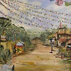 Prayer Flags, kathmandu by Avril E Jean
