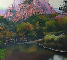Zions Canyon #1 by Maria Hathaway Spencer