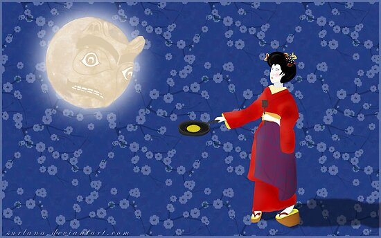 Pancakes for the Moon by surlana
