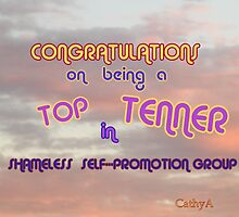 Top Ten Banner, shamless Self-promotion by Cathy Amendola