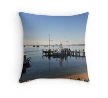 Quiet morning, Bateman's Bay Throw Pillow