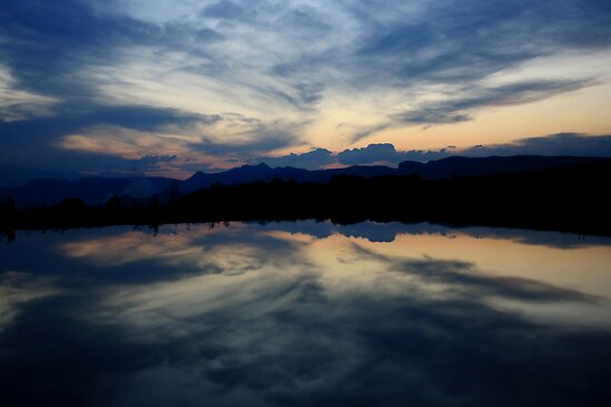 Reflections, Drakensberg, Free State by Fiona Christensen