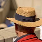 Hat Series - Man Wearing A Frayed Straw Hat by Buckwhite
