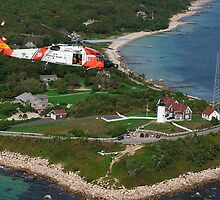 MH-60J Over Nobska Light by Brian Puhl IPA