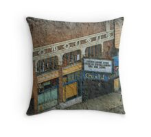 Down on the Street Throw Pillow