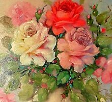 Multi Color Roses, detail by Cathy Amendola
