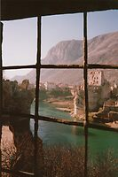 Rope Bridge Mostar by jon  daly