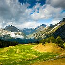 swiss mountains at maloja by peterwey