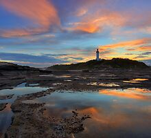 Sundown at Norah Head by Mark Snelson