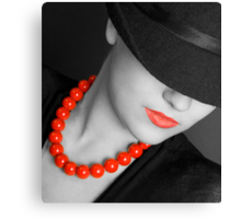 Lips & Beads Canvas Print