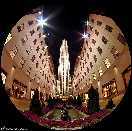 Rockefeller Center (night) by digitizedchaos
