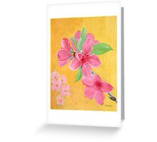 Peach Flowers for Lunar New Year Greeting Card