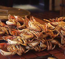 Crabs At Fisherman's Wharf, San Francisco. by Peter Stephenson