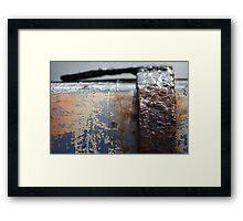 Galvanised Framed Print