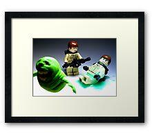 """""""He Slimed Me!"""" Framed Print"""