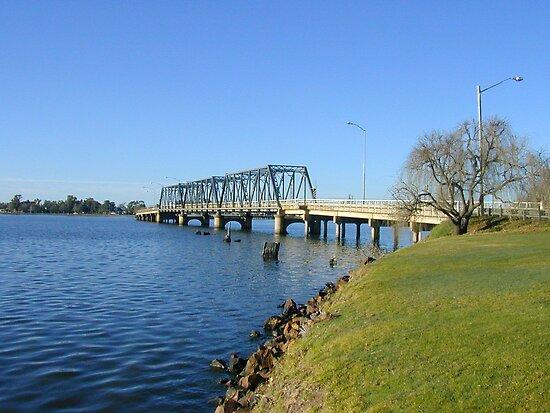 Bridge From Mulwala To Yarrawonga By David Hunt Redbubble